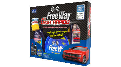 Kit Automotivo Lava Rápido Free Way